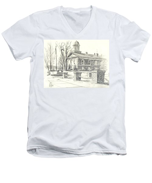February Morning  No Ctc102 Men's V-Neck T-Shirt