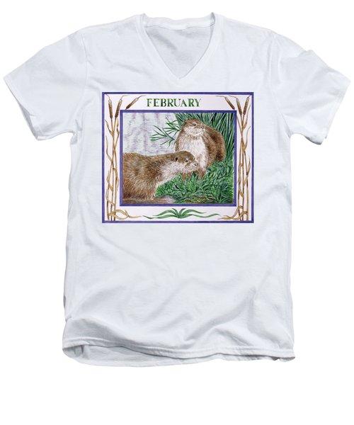 February Wc On Paper Men's V-Neck T-Shirt by Catherine Bradbury