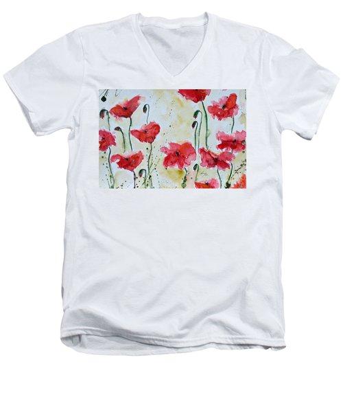 Feel The Summer 1 - Poppies Men's V-Neck T-Shirt