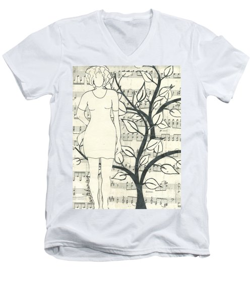 Feeling One With Nature Men's V-Neck T-Shirt