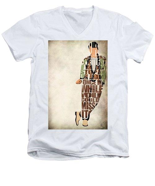 Ferris Bueller's Day Off Men's V-Neck T-Shirt by Ayse Deniz