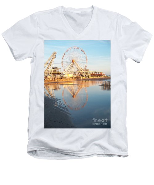 Ferris Wheel Jersey Shore 2 Men's V-Neck T-Shirt