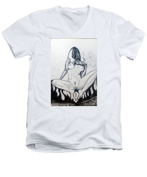 Fertility Fertilidad Men's V-Neck T-Shirt by Lazaro Hurtado