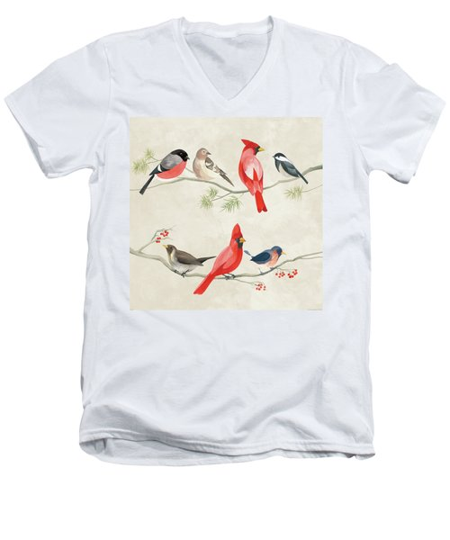 Festive Birds I Men's V-Neck T-Shirt
