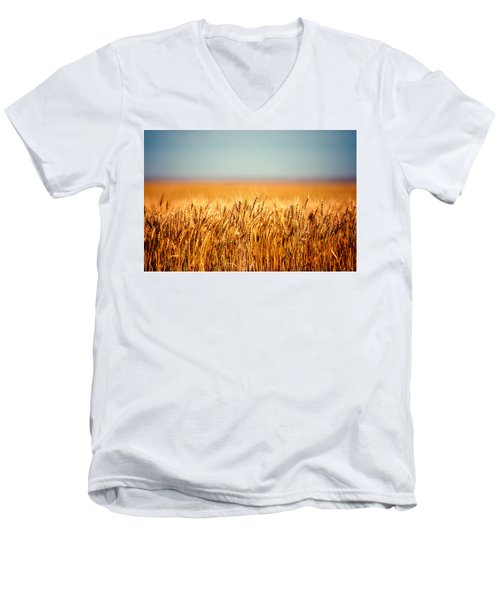 Field Of Wheat Men's V-Neck T-Shirt