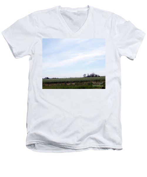 Men's V-Neck T-Shirt featuring the photograph Fields Of Source by Bobbee Rickard