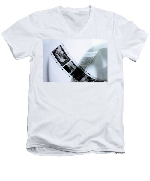 Film Strips Men's V-Neck T-Shirt