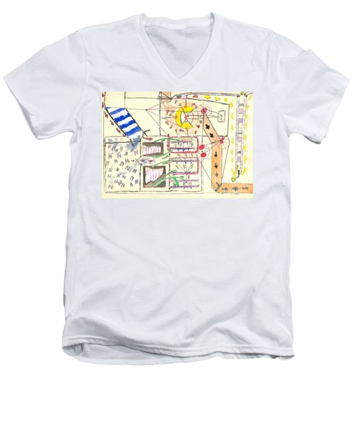First Abstract Men's V-Neck T-Shirt