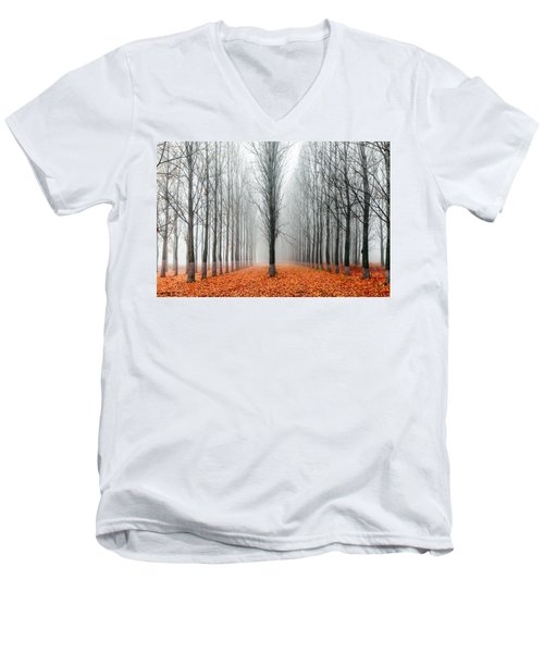 First In The Line Men's V-Neck T-Shirt