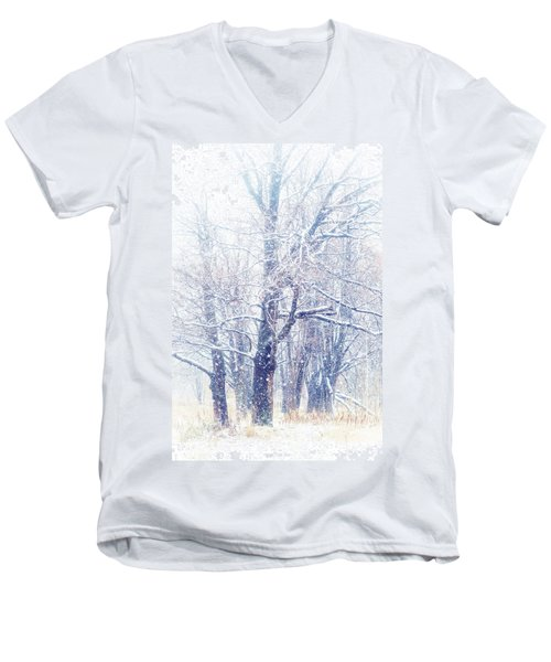First Snow. Dreamy Wonderland Men's V-Neck T-Shirt