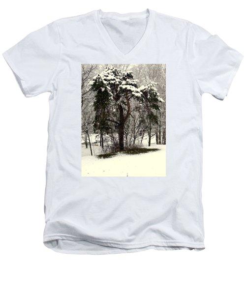 First Snow Men's V-Neck T-Shirt by Henryk Gorecki