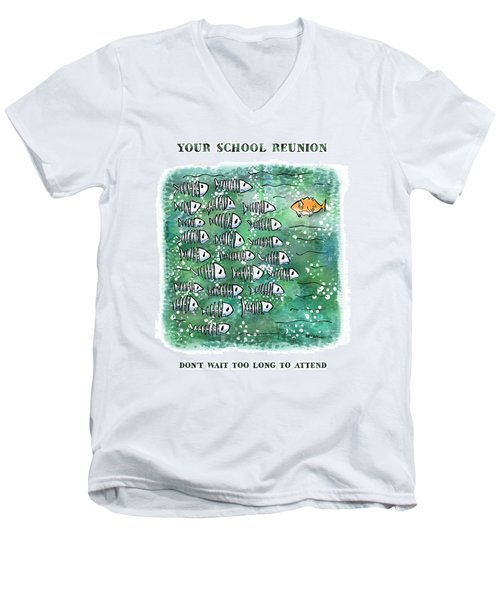 Fish School Reunion Men's V-Neck T-Shirt