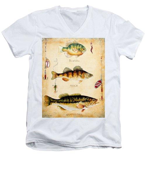 Fish Trio-c Men's V-Neck T-Shirt