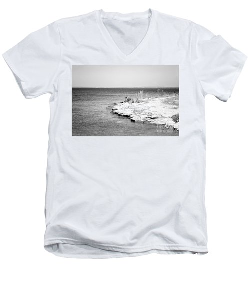 Men's V-Neck T-Shirt featuring the photograph Fishing by Erika Weber