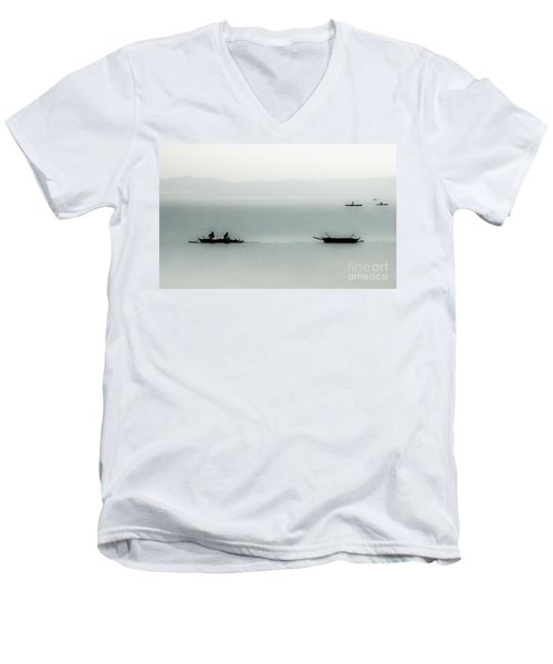 Fishing On The Philippine Sea   Men's V-Neck T-Shirt