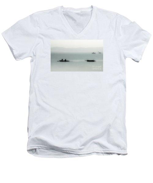 Fishing On The Philippine Sea   Men's V-Neck T-Shirt