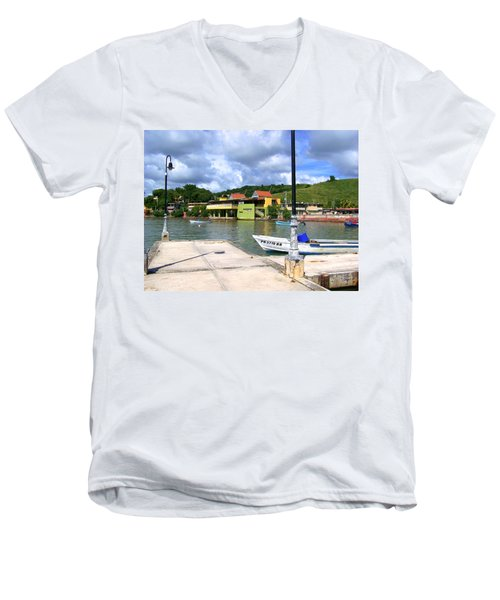Fishing Village Puerto Rico Men's V-Neck T-Shirt