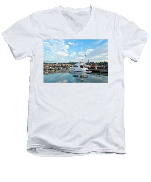 Flag View II Men's V-Neck T-Shirt