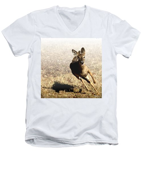 Flee Men's V-Neck T-Shirt by Bill Stephens