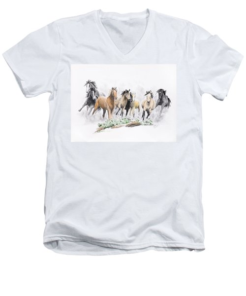 Flight For Freedom Men's V-Neck T-Shirt
