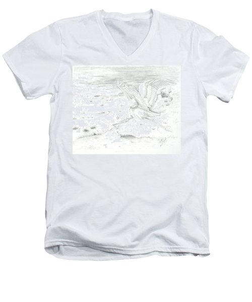 Flight Of Grace Men's V-Neck T-Shirt