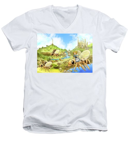 Flight Over Capira Men's V-Neck T-Shirt by Reynold Jay