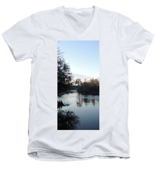 Men's V-Neck T-Shirt featuring the photograph Flint River 23 by Kim Pate