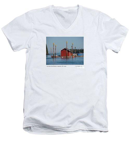 Floating Fish Shack Bay Of Fundy Nb Men's V-Neck T-Shirt