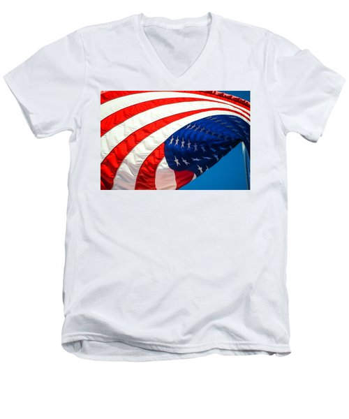 Floating Flag  Men's V-Neck T-Shirt
