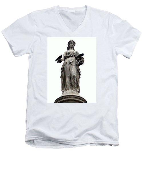 Raven's Friend Men's V-Neck T-Shirt by Salman Ravish
