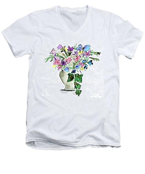Floral Vase Men's V-Neck T-Shirt