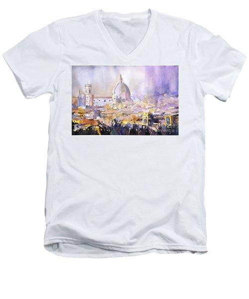 Florence Duomo Men's V-Neck T-Shirt