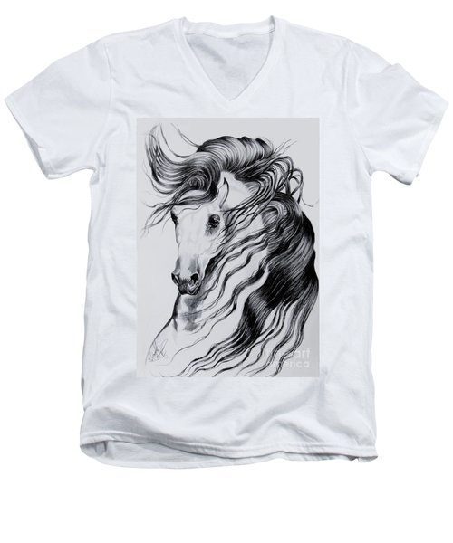 Florentino Constantnoble-what Dreams Are Made Of Men's V-Neck T-Shirt by Cheryl Poland