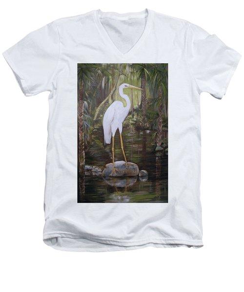 Florida Bird Men's V-Neck T-Shirt