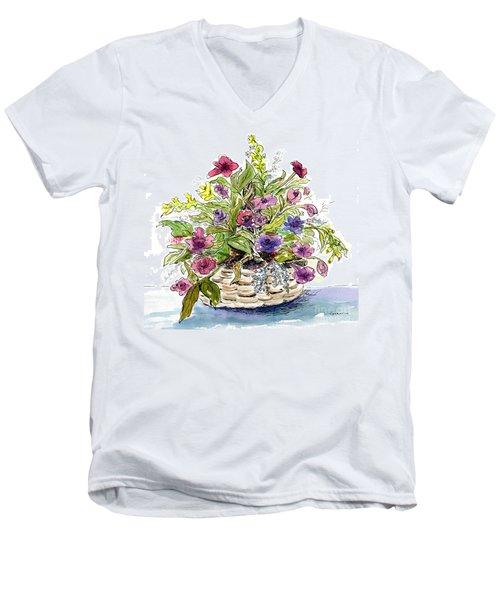 Flower Basket I Men's V-Neck T-Shirt