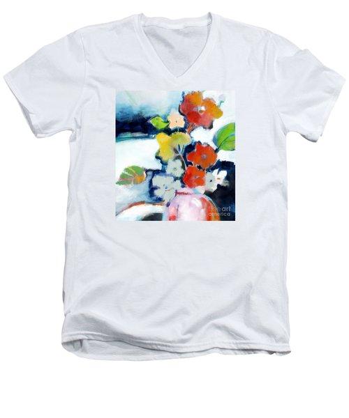 Flower Vase No.1 Men's V-Neck T-Shirt by Michelle Abrams