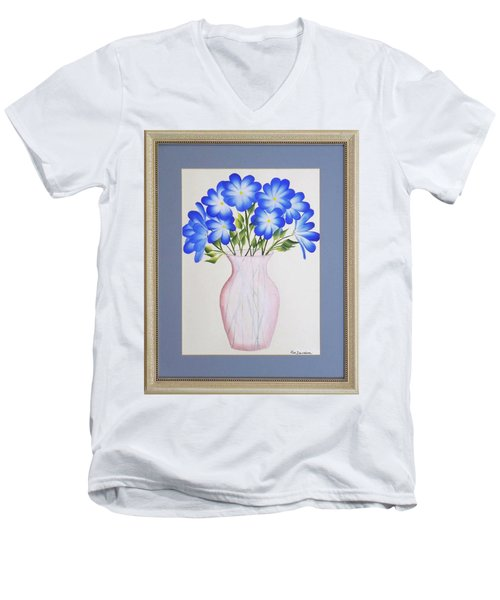 Flowers In A Vase Men's V-Neck T-Shirt