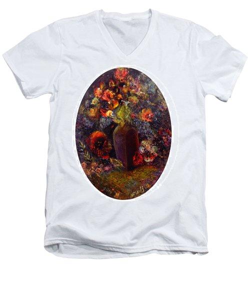 Flowers In Vase Men's V-Neck T-Shirt