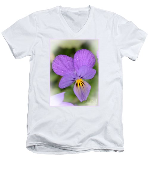 Men's V-Neck T-Shirt featuring the photograph Flowers That Smile by Kerri Farley