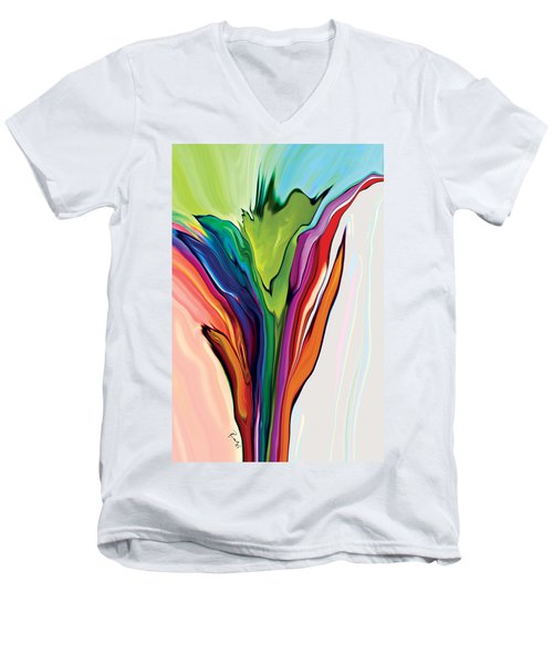 Flowery 5 Men's V-Neck T-Shirt
