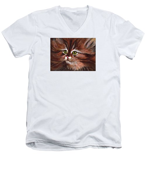 Fluffy Men's V-Neck T-Shirt