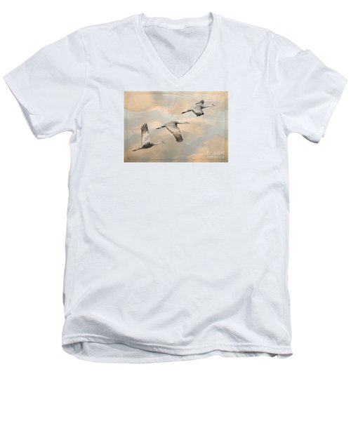 Fly Away Men's V-Neck T-Shirt by Alice Cahill