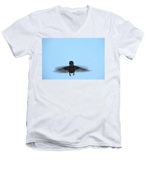 Fly Away Home Little Hummingbird Men's V-Neck T-Shirt