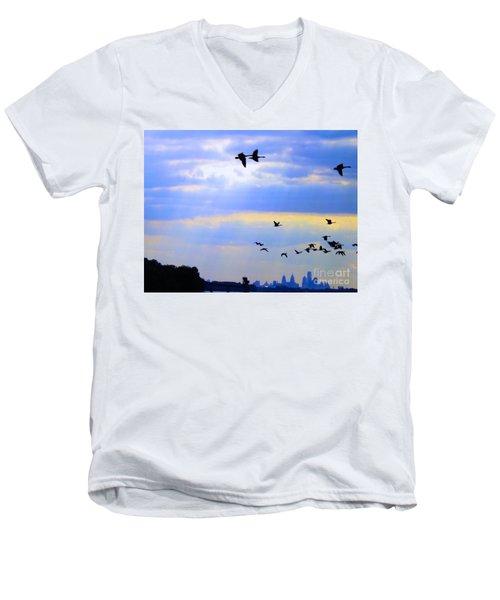Fly Like The Wind Men's V-Neck T-Shirt
