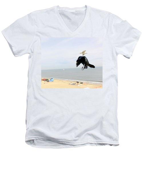 Flying Evil With Bad Intentions Men's V-Neck T-Shirt