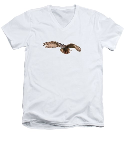 Flying Owl Men's V-Neck T-Shirt