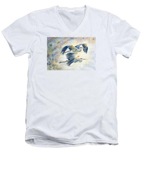 Flying Together Men's V-Neck T-Shirt