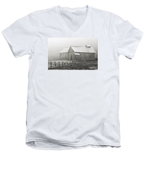 Foggy Barn Men's V-Neck T-Shirt by Joan Davis