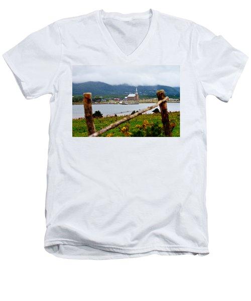 Foggy Day In Cheticamp Men's V-Neck T-Shirt
