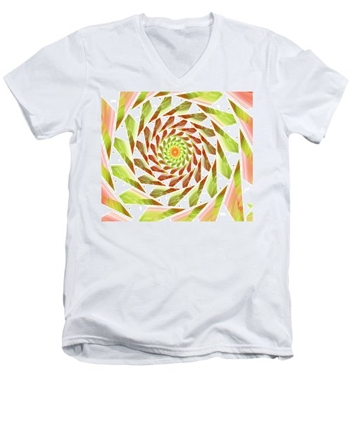 Men's V-Neck T-Shirt featuring the digital art Abstract Swirls  by Ester  Rogers